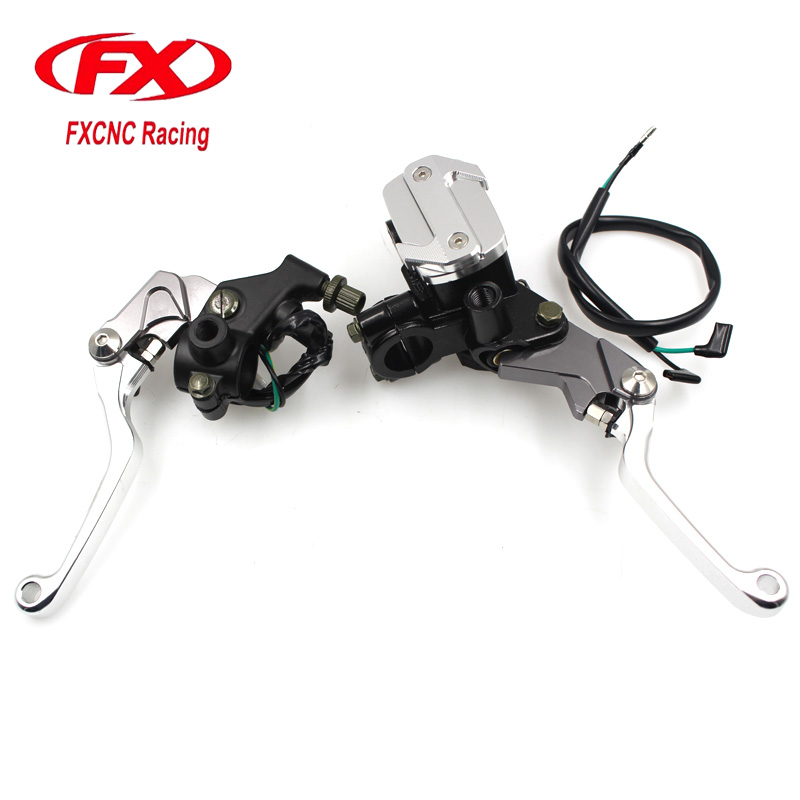 FX CNC Motorcycle Hydraulic Master Cylinder Brake Cable Clutch Levers For SUZUKI RM85 RM125 RM250 RMZ250 RMZ450 RMX450Z RMX250S cnc front brake line hose clamps holder for suzuki rm85 rm125 rm250 rmz250 rmz450 rmx450z drz400sm motorcycle