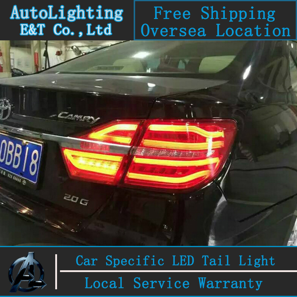 Car Styling For Toyota Camry taillight aassembly 14-15 Camry LED Tail Light New Camry rear lamp drl h7 with hid kit 2 pcs.