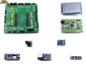 Open407V-D упаковка A = STM 32 плата, ST Оригинал STM32F4DISCOVERY/STM32F407G-DISC1, STM32F407VGT6 + 3,2 '320x240 сенсорный ЖК + 8 модулей