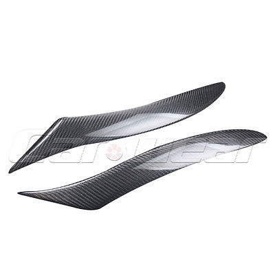 RX8 Carbon Fiber Front Headlight Cover Trim Sticker Eyelid Eyebrow For Mazda RX8 2008-2010