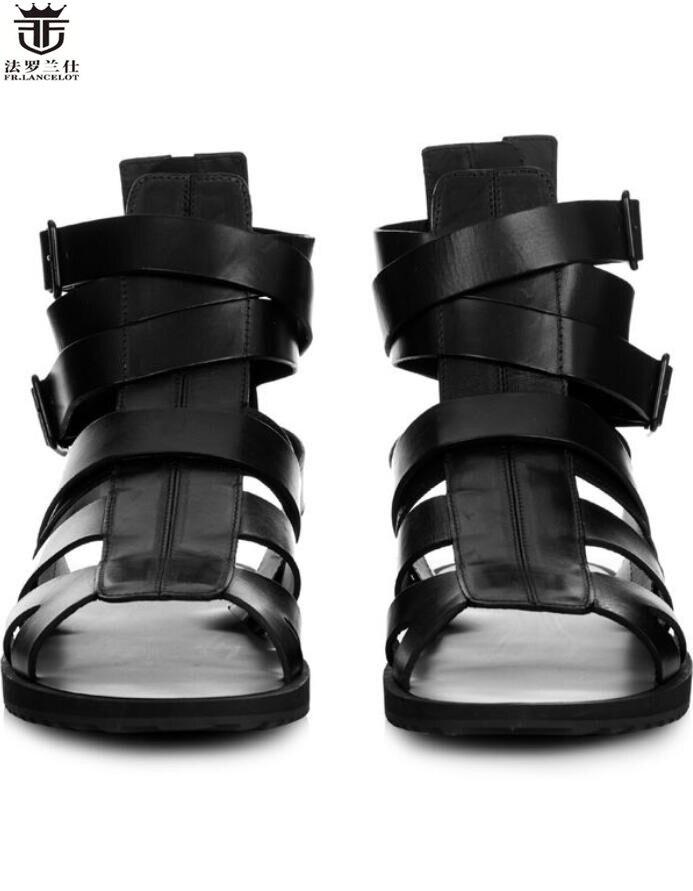 a11136fc0 Verano Plano Hombre Tacón Estilo Zapatos Nuevo Pic Pisos Lancelot Hombres  Fr Cuero 2019 As Casuales Vacaciones De Calado Sandalias ...
