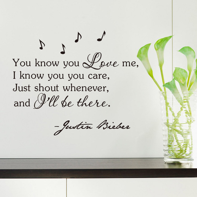 8194 wall sticker you know you love me decoration original quantity vinyl decal stickers for living