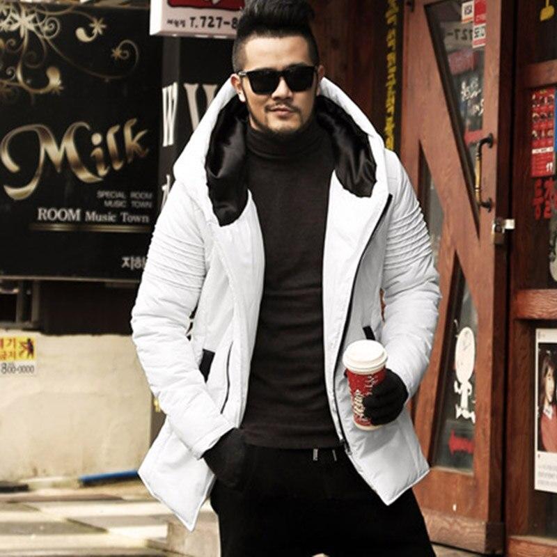 Новинка зимы Для мужчин куртки Утепленные зимние куртки Для мужчин s хлопковое пальто Для мужчин теплые парки для мальчиков утепленная толстовка с капюшоном верхняя одежда F2126-in Парки from Мужская одежда
