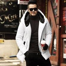 الشتاء جديد الرجال جاكيتات سماكة الشتاء جاكيتات رجل القطن معطف الرجال الدافئة ستر الذكور سميكة مقنعين معطف أبلى F2126