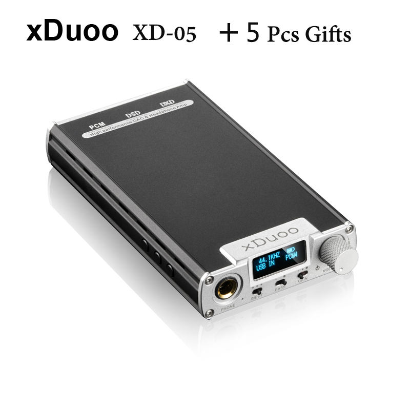 2016 Newest XDuoo XD-05 Portable Audio DAC Headphone Amplifier AMP Support Native DSD Decoding 32bit/384khz with HD OLED Display cozoy rei mini dac headphone amplifier dsd256 32bit 384khz