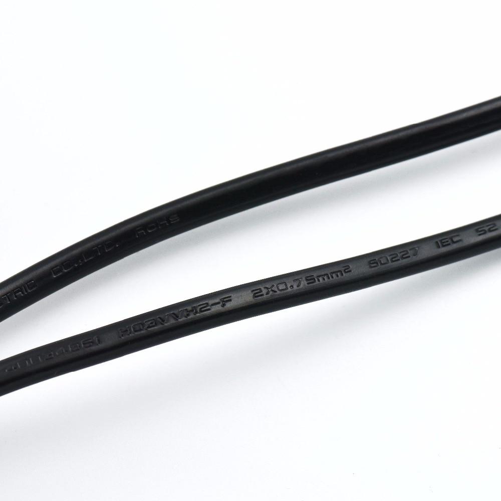 2*0.75mm2 Europa Stecker Lampe Netzkabel mit Doppelschalter VDE ...
