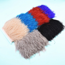 1Meterslot ostrich feathers Trim ribbon 8-10cm plumes natural feathers for Crafts Sewing DIY clothing dress Party decoratives