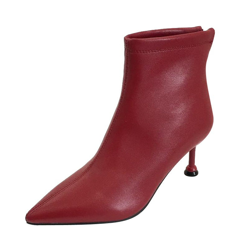 2018 autumn and winter fashion boots wild simple pointed pointed fine velvet thick boots womens boots wine red 01162018 autumn and winter fashion boots wild simple pointed pointed fine velvet thick boots womens boots wine red 0116
