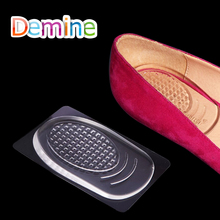 цена Demine Silicon Gel Heel Cushion Cup for Men Women Shock Absorption Pain Relief Half Support Pad Casual Insoles High Heel Inserts