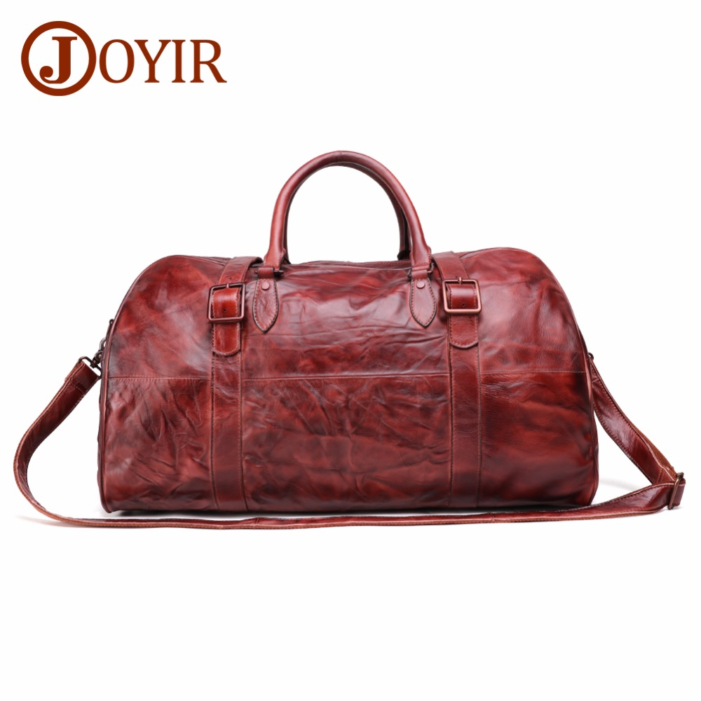 JOYIR Mens Travel Bag Handbag Genuine Leather Men Duffel Luggage Large Capacity Weekend Tote New