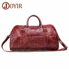 цена JOYIR Men's Travel Bag Handbag Genuine Leather Men Duffel Bag Luggage Travel Bag Large Capacity Leather Handbag Weekend Tote New онлайн в 2017 году
