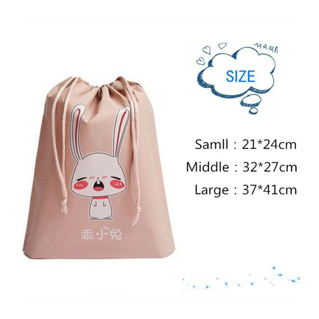 Cartoon Draw Pocket Travel Accessories Drawstring Bag Business Trip Storage Bag For Cloth And Shoe Functional Bag Box 5