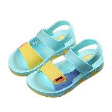 2019 Girl Shoes Summer Fashion Children Sandals Girls Princess Kids Flat Hook Loop Baby