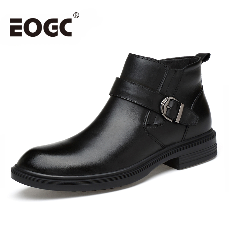 Handmade Men Boots Genuine Leather Ankle boots Autumn And Winter Man Shoes warmest Winter Snow Boots with fur Size 36-46 genuine leather men snow boots new design warm fur winter boots fashion handmade two style autumn and winter shoes men