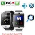 Aplus GV18 relógio saúde Inteligente NFC originais câmera de vídeo SIM mp3 smartwatch para apple samsung telefone android pk dz09 gt08 relógio