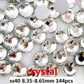Marca Strass Para Unhas 144 pcs ss40 8.35-8.65mm de Cristal Não Hot fix Tudo Para Unhas Art Decorações unhas Acessórios