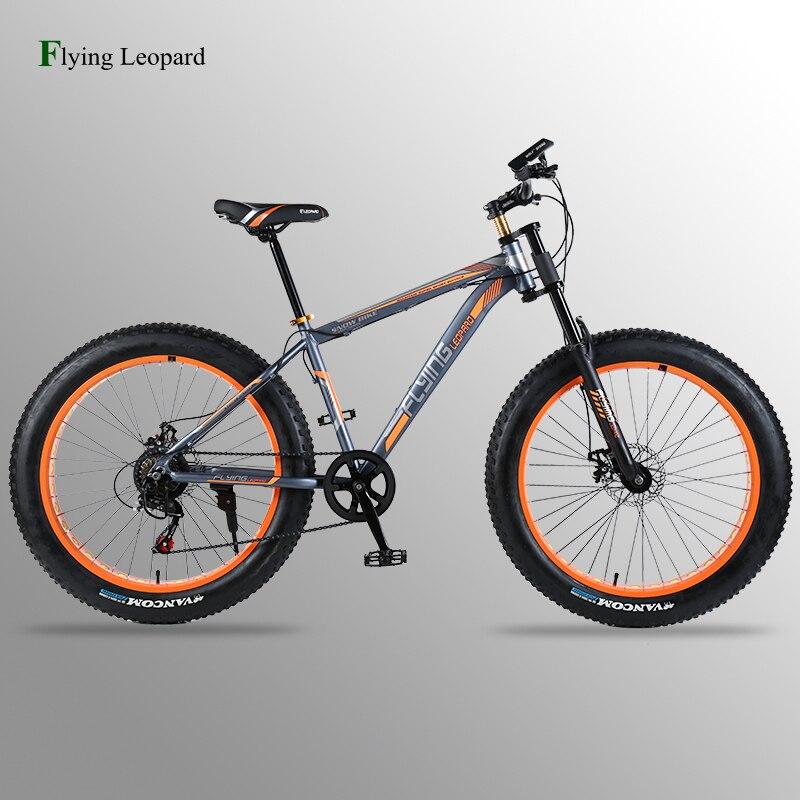 Vélo Vtt vélo de route vélo cadre en aluminium 7/21/24 vitesse mécanique freins 26 x 4.0 roues longue fourchette Graisse Vélo fahrrad