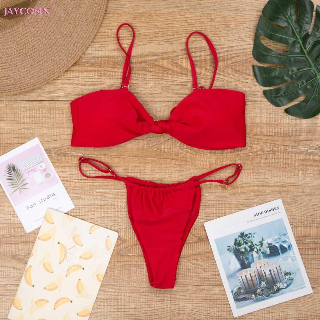 JAYCOSIN 2019 INS ملابس S-L المرأة الصيف مجموعة ملابس السباحة بيكيني دفع ما يصل مبطن البرازيلي الاستحمام السباحة الملابس عاشق هدية قطرة #0420