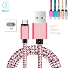 Byleen Type C Flat Fast Charger 1M 25CM Short Line for huawei P20 mate 10 lite L