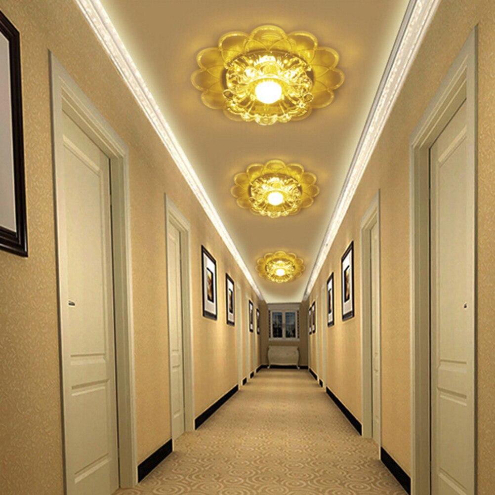 5 w led décoratif de luxe cristal plafonnier acylic lampe moderne salon ceilling lampes maison intérieur éclairage de plafond