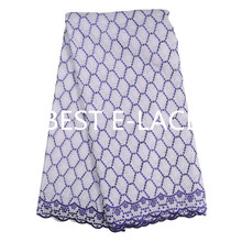 nice Best Elace African Swiss Voile Lace High Quality Wedding African blue Cotton Swiss Voile Lace In Switzerland dress