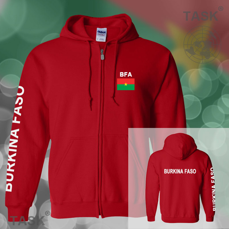 Burkina Faso Burkinabe mens hoodies and sweatshirt jerseys polo sweat suits streetwear tracksuit nations fleece zipper BFA BF