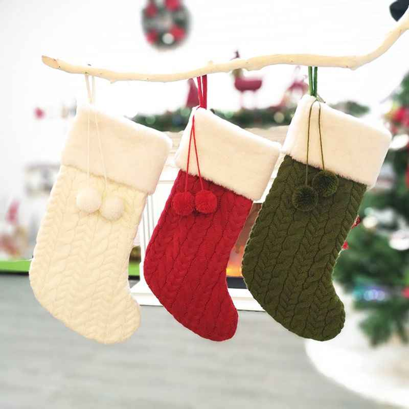 Рождественские чулки мини-носок фестиваль Рождественская елка конфеты подарок Подвеска для сумки декоративное украшение для дома