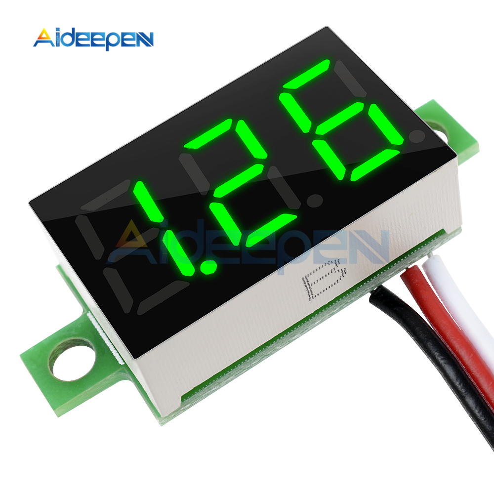 <font><b>DC</b></font> <font><b>0</b></font>-<font><b>30V</b></font> <font><b>0</b></font>.36 Inch Mini Digital Voltmeter Voltage Tester Meter Green LED Screen Electronic Parts Accessories Digital Voltmeter image