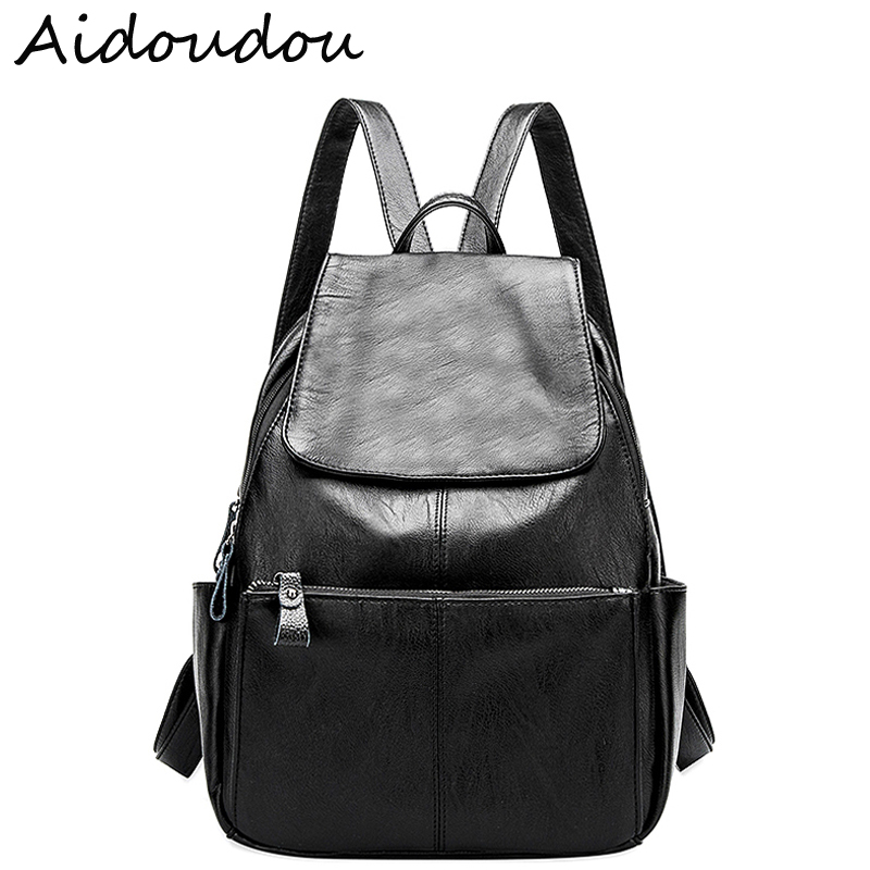New Arrival Genuine Leather Women Backpack Fashion High Quality Famous Brand Preppy Style Girl School Bag