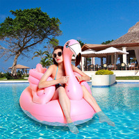 150CM Giant Pink Flamingo Pool Float Ride On Swimming Ring Adult Water Party Inflatable Fun Toys Air Mattress Beach Lounger boia