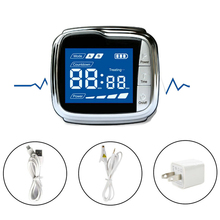 New CE Laser Physiotherapy 650nm Light /Wrist Diode Low Level Therapy LLLT for Diabetes Hypertension Diabetic Watch