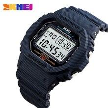 SKMEI Relógio Do Esporte Dos Homens Ao Ar Livre 5Bar Relógios À Prova D Água Despertador Semana de Exibição Militar Moda Digital Watch reloj hombre 1471