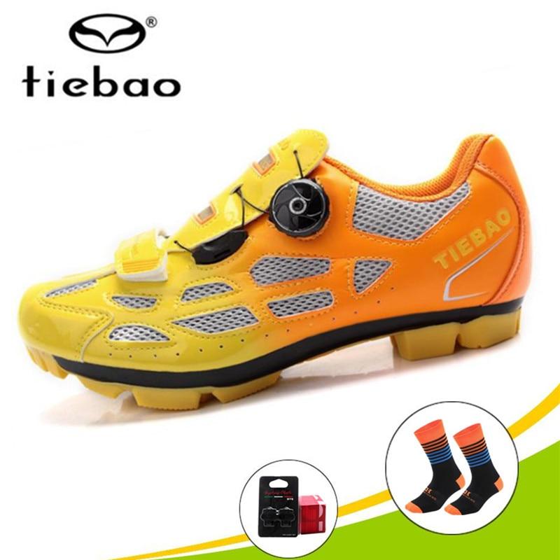 Tiebao chaussures de cyclisme 2018 Hommes sneakers Femmes Sapatilha Ciclismo Vtt Extérieure VTT Vélo SPD Taquet superstar Chaussures