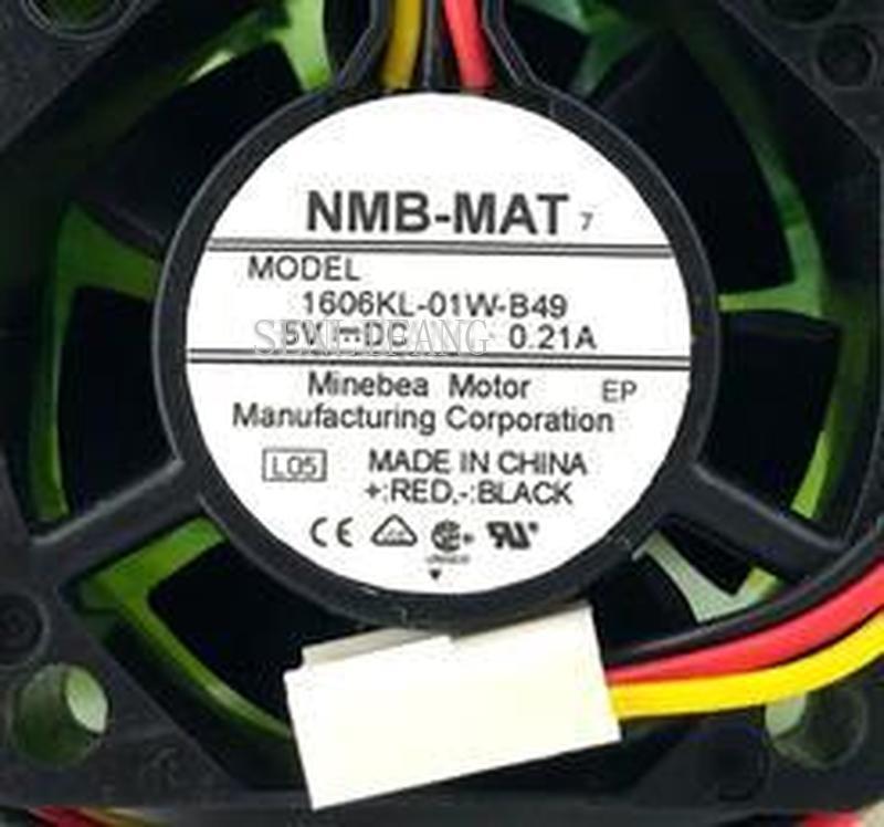 Free Shipping  1606KL-01W-B49 L50 DC 5V 0.21A 40x40x15mm 3-wire Server Cooler Fan