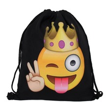 BU Brand Fashion Prints Drawstring Bag Cute Student Bag Travel Pouch Shoes Storage Clothes Handbag Cosmetics