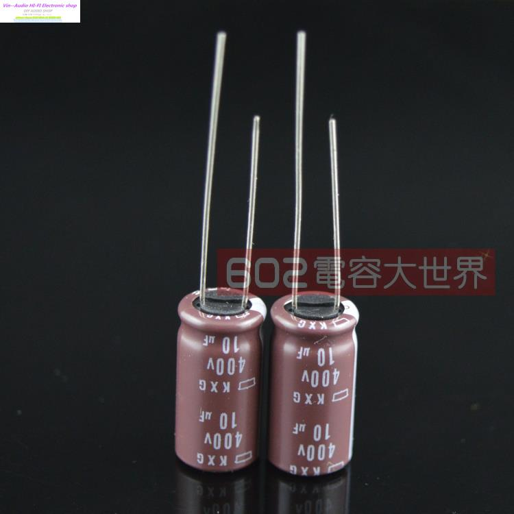2018 hot sale 20pcs/50PCS Japan original NIPPON 400V10UF Electrolytic Capacitor <font><b>10uf</b></font> <font><b>400V</b></font> KXG series 10*20 Free shipping image