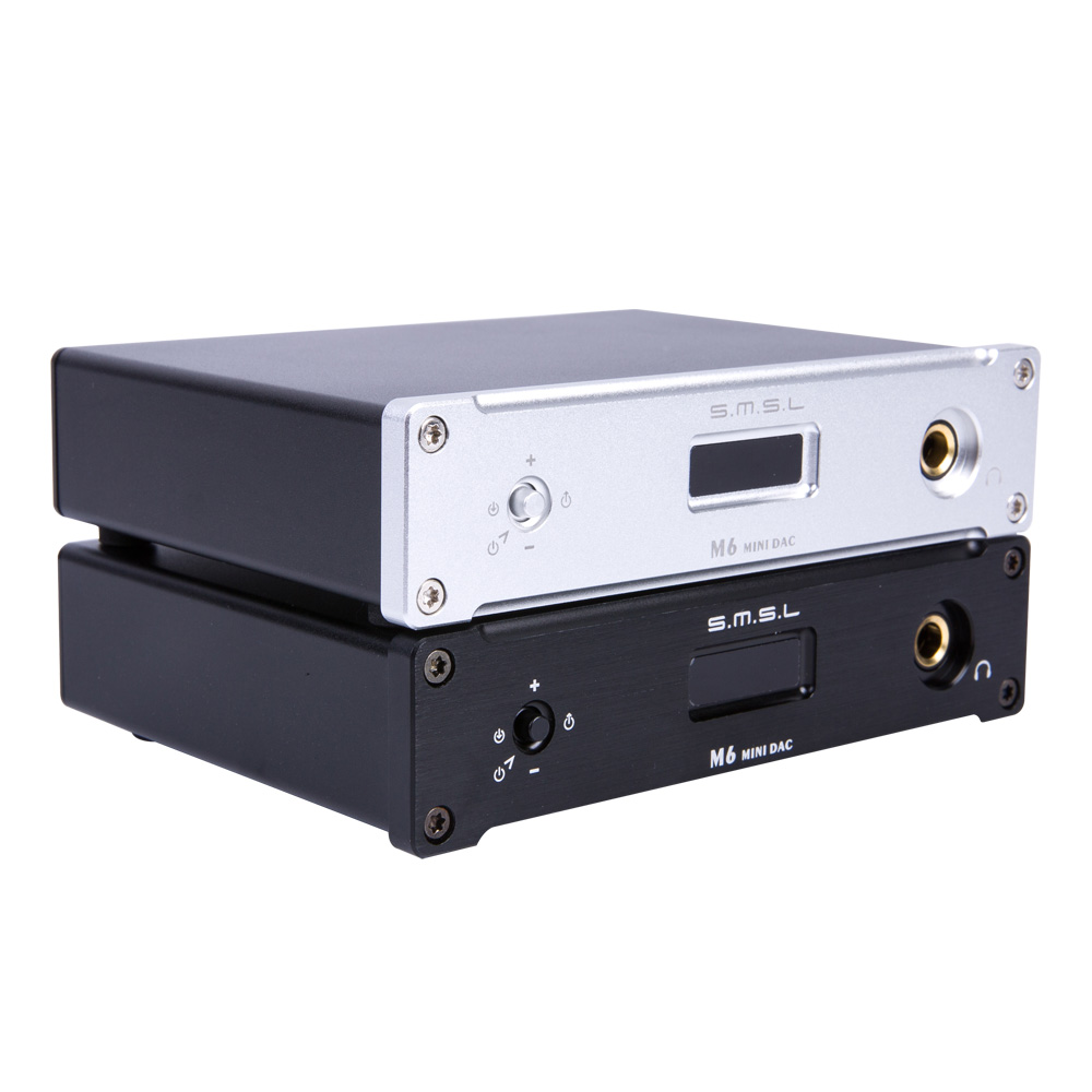 SMSL M6  HIFI Audio Decoder Headphone Amplifier DAC/Amp with 32bit/384kHz USB Optical Coaxial Input smsl a8 hifi audio digital power amplifier dac headphone amp decoder xmos solution icepower 125wx2 module ak4490 supports pcm