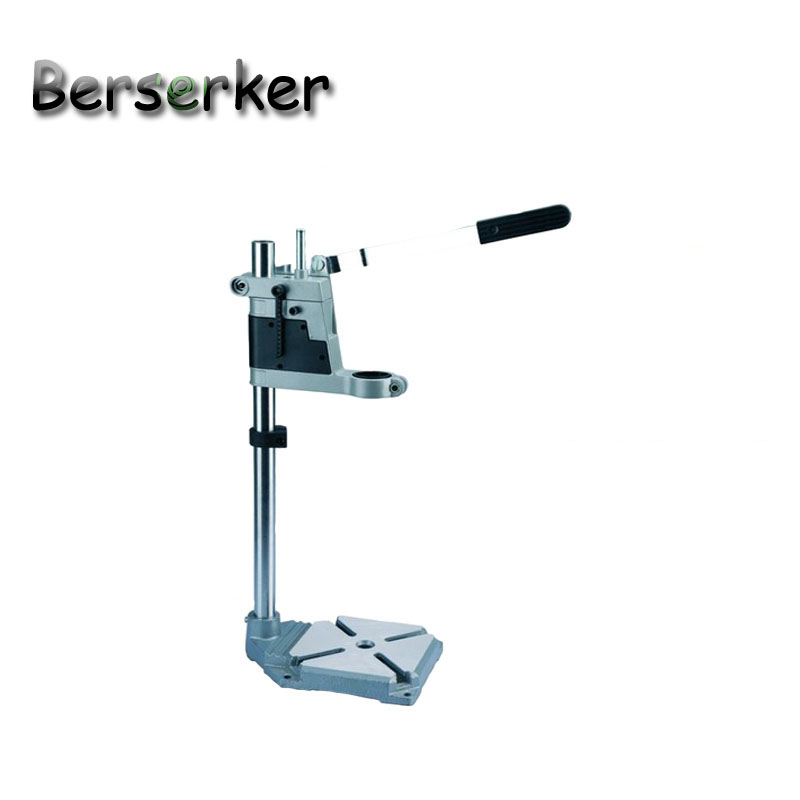 Berserker Power drill holder Electric Drill Stand For Drilling Drill Press Table Cast Iron bottom lamp Tool BG-6109B electric power drill press stand table for drill workbench repair tool clamp for drilling collet table 35