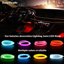Car styling Lights Interior Decoration Moulding Strips EL Cold Line Flexible Atmosphere Lamp For OPEL ASTRA  J G 2010-2017