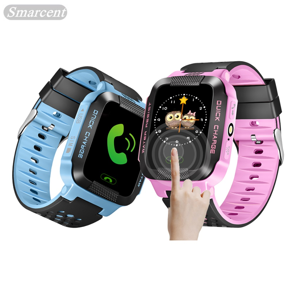 Y21S Q528 Smarcent Kids Watches GPS Watch Y21 Baby Watch Phone 2G GSM GPS Locator Tracker SOS Anti-Lost Smartwatch Clock
