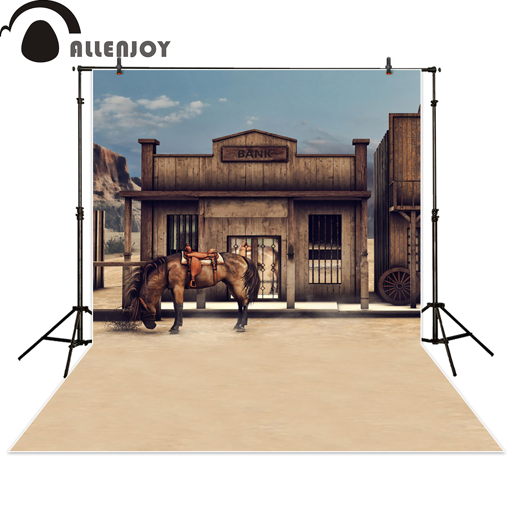 Allenjoy background photography horse bank wood western brown newborn photo studio photocall backdrop original custom allenjoy diy wedding photography background romantic love wood board custom name date phrase backdrop photocall