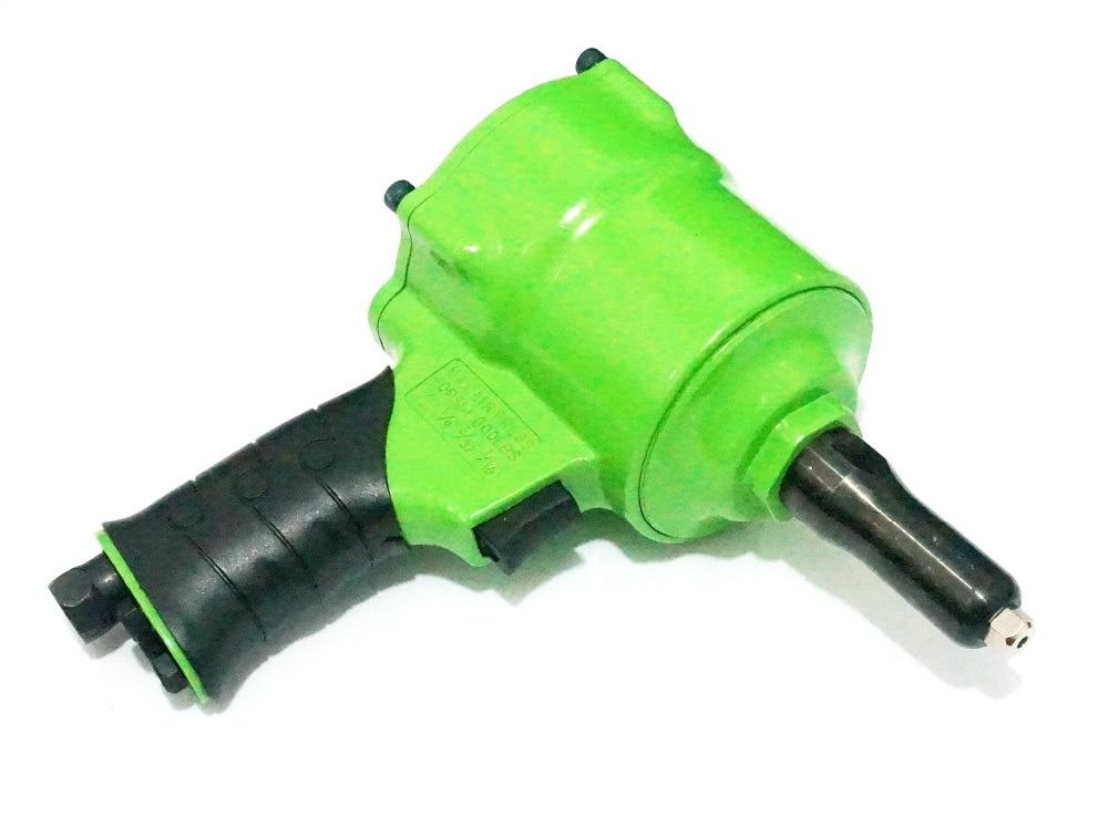 Green Pistol Type G1/4 Inlet Air Riveter Pneumatic Automotive Tool Rivet Gun 1pcs ergonomic hand squeeze pop rivet gun tool riveter poprivet