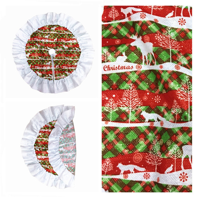 red extra large christmas tree skirt xmas tree ornaments decoration christmas products for home or outdoor - Extra Large Christmas Ornaments