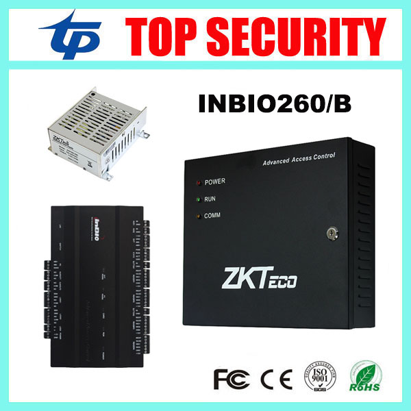 ZK inbio260 TCP/IP 2 doors fingerprint and RFID card access control board system door control with battery function power supply zk multibio700 face access controller tcp ip usb face and fingerprint time attendance and door security access control system