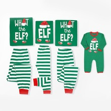Family Christmas Pajamas Set Striped Pyjamas Look Matching Navidad Clothes