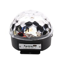 Mini DJ Laser Stage Light MP3 IR Remote Digital RGB LED Crystal Magic Ball Hot Selling
