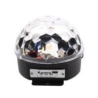 Mini DJ Laser Stage Light MP3 IR Remote Digital RGB LED Crystal Magic Ball Hot Selling