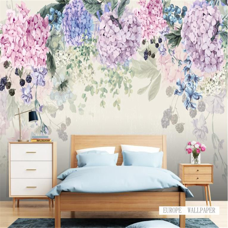 Custom Flower Wallpaper 3D Wallpaper Europe Modern Luxury Wall Paper Wall Mural Living room Decor Bedroom Home Decor Wallpaper 3d modern wallpapers home decor flower wallpaper 3d non woven wall paper roll bird trees wallpaper decorative bedroom wall paper