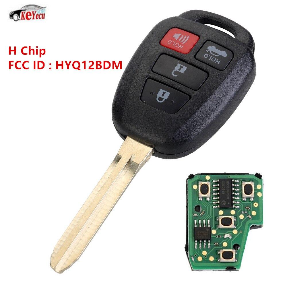 KEYECU nouvelle clé de voiture sans clé entrée à distance Fob H puce pour 2015 Toyota Camry FCC ID: HYQ12BDM
