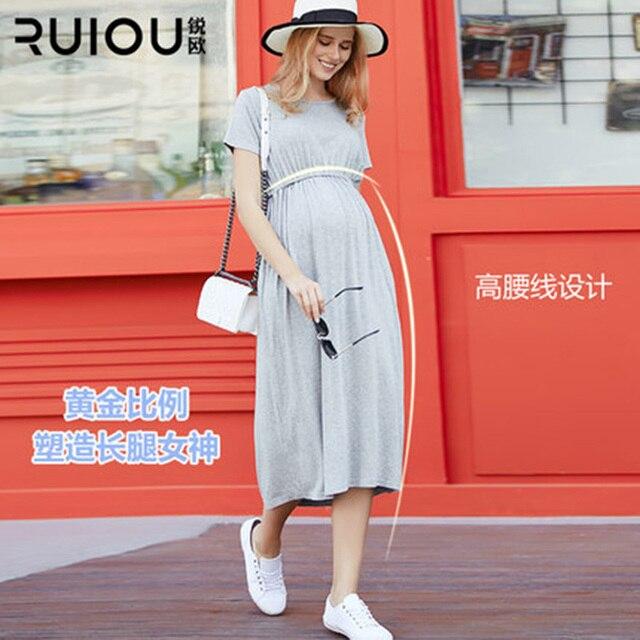 0b52cbb91d38f مرحبا ازهر جديد Fsahion قصيرة اللباس ملابس للحمل الحوامل ملابس قطنية فضفاضة للنساء  الحوامل 2 اللون